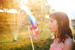 Beautiful girl having fun outside