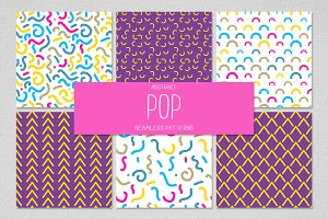 6 POP seamless patterns