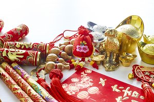 Chinese new year dog 2018 festival