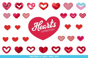 Hearts Logo vector Collection