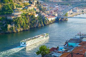 Cruise ship river Douro. Portugal