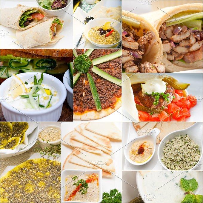 Arab middle eastern food collage 10.jpg - Food & Drink
