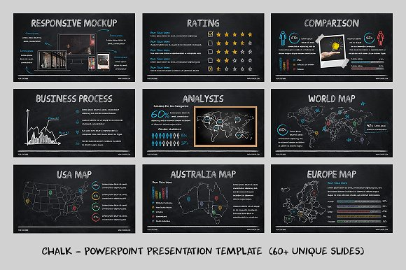 chalk powerpoint template presentation templates creative market