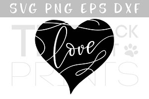 Love & Heart SVG DXF PNG EPS