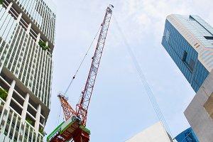 Construction crane , Singapore