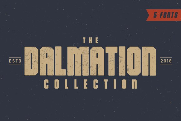 The Dalmation Font Collection