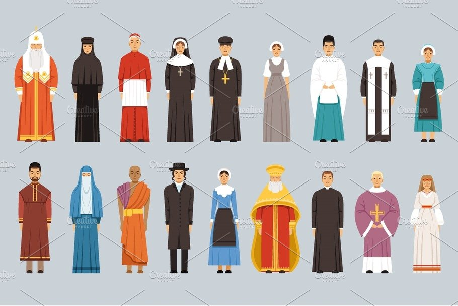 52dbfb2b78a Religion people set