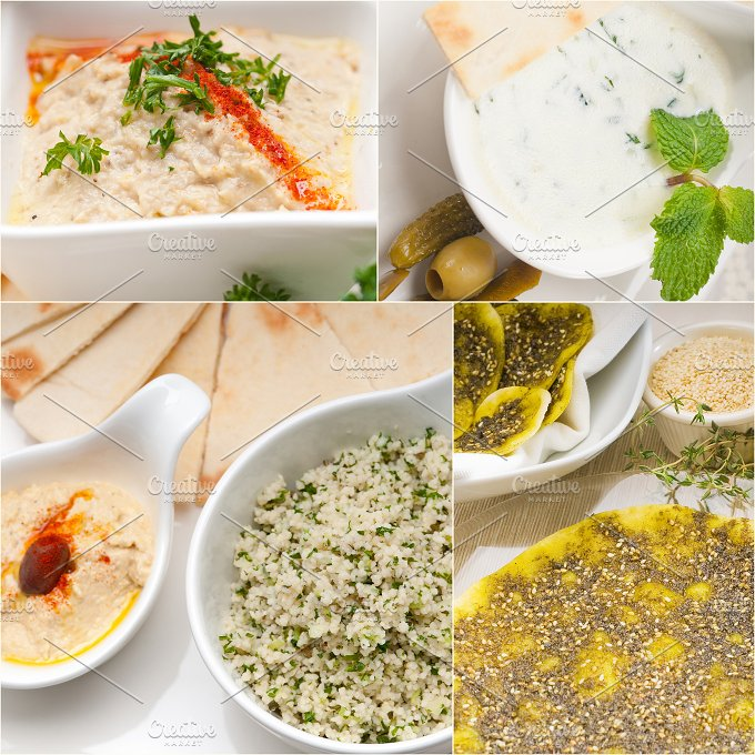 Arab middle eastern food collage 25.jpg - Food & Drink