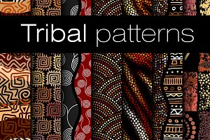 10 tribal seamless vector patterns