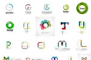 Thin line logo designs