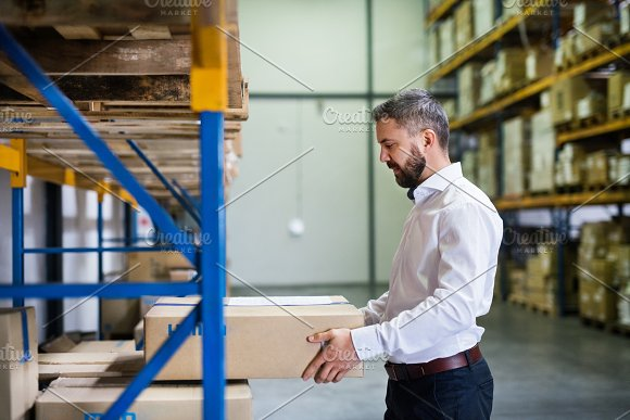 Male Warehouse Worker Or Supervisor