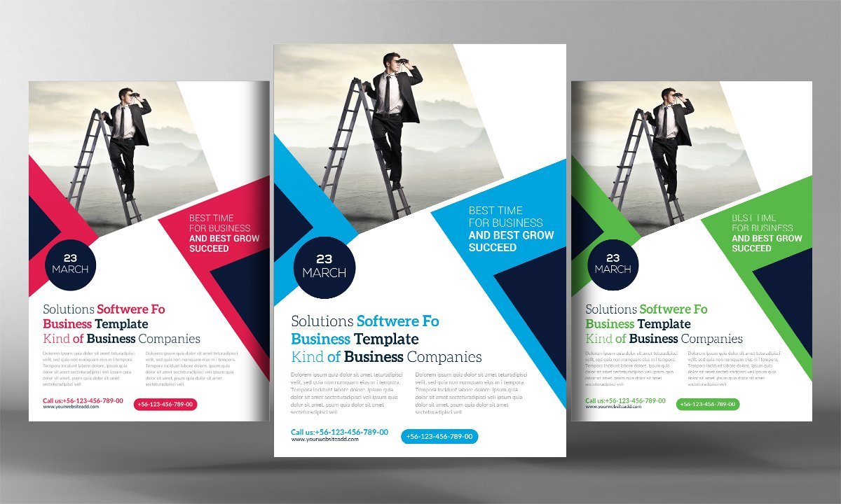 it and software flyer template flyer templates creative market