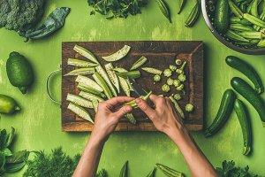 Healthy green cooking ingredients
