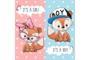 Two Foxes boy and girl