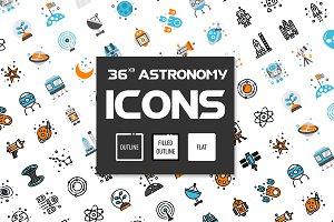 36x3 Astronomy icons