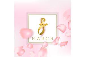 8 march vector card