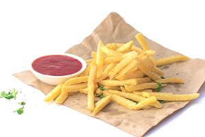 French Fries with Tomato Sauce