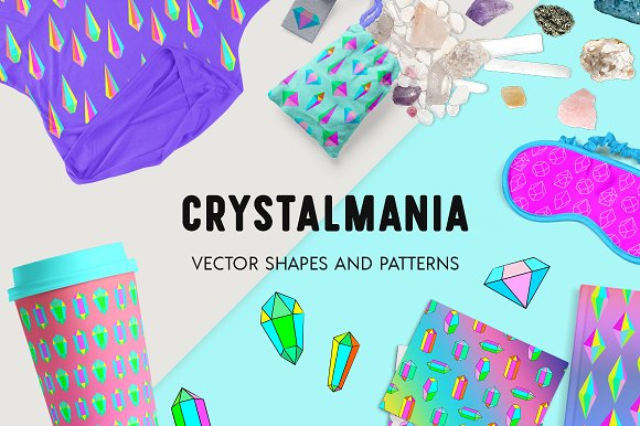 Crystalmania Crystals Vector Pack