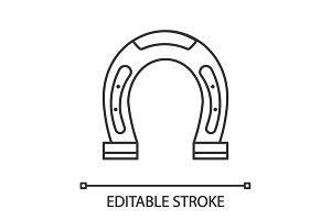 Horseshoe linear icon