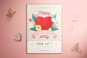 Happy Valentine's Day Party Flyer