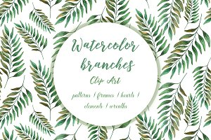 Watercolor Green Leaf ClipArt