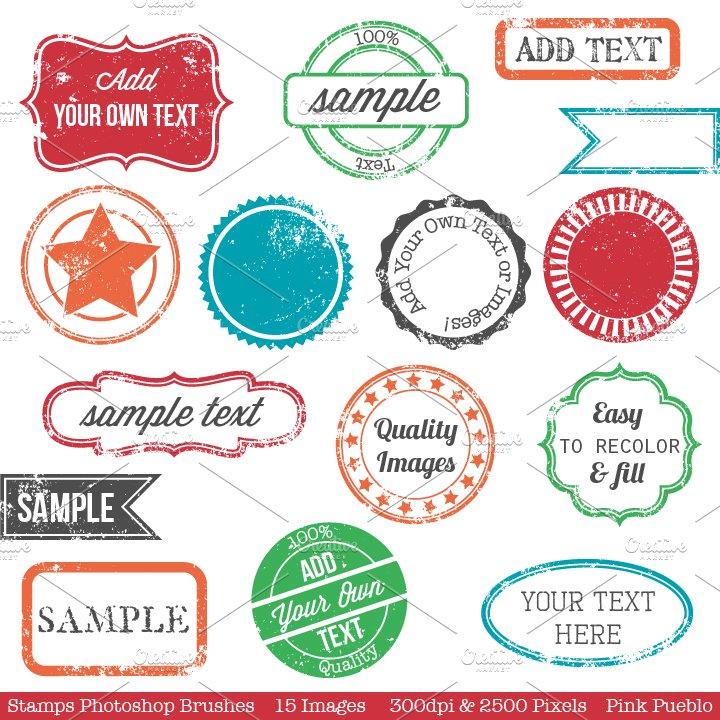 Stamps & Postage Photoshop Brushes ~ Brushes ~ Creative Market