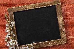 Chalkboard With Flowers