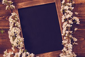 Chalkboard With Flowers