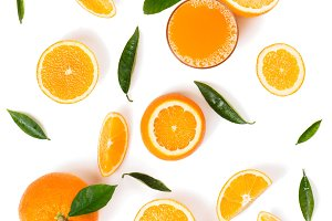 Orange slices for juice.