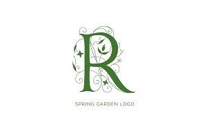 Floral R Logo Design