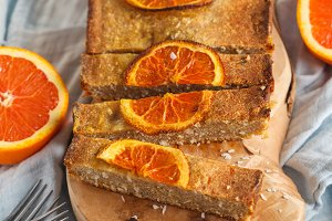 orange cake with coconut
