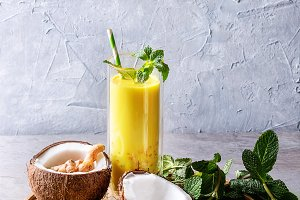 Turmeric golden milk iced latte