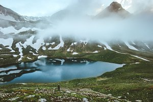 Lake in mountains landscape