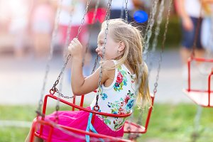 Little girl at fun fair