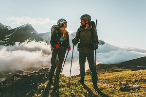 Travel Couple backpackers