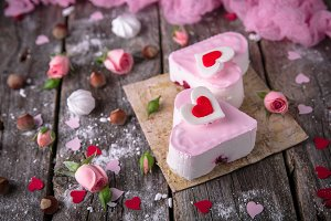 Heart-Shaped Dessert For Valentine's