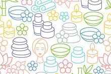 Spa seamless patterns.