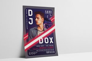 DJ Concert Year Flyer Template