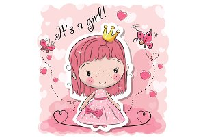 Cute Cartoon fairy tale Princess