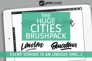 The huge Procreate cities brushpack