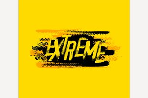 Extreme Grunge Lettering