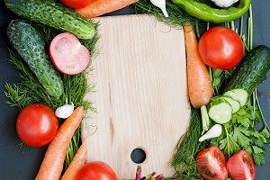 frame from vegetables