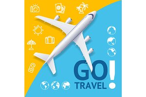 Go Travel Concept. Vector