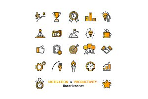 Motivation and Productivity Icon Set