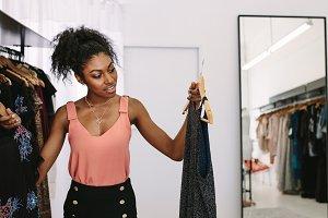 Woman entrepreneur in her fashion