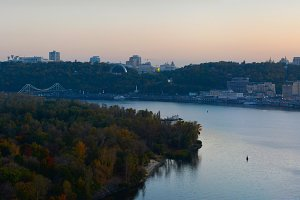 Kiev at twilight, Ukraine