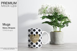 Mug Mockups - Many Shapes