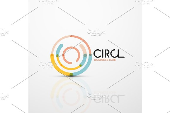 Abstract Swirl Lines Symbol Circle Logo Icon