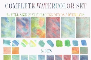 Watercolor Graphic Designer Box Set