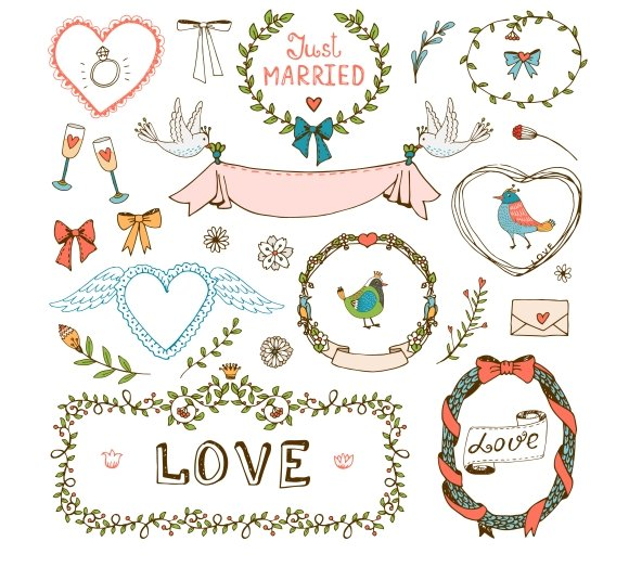 Elements For Wedding Invitations By Microvector In Graphics